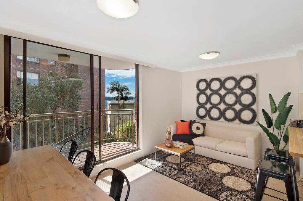 The living room at Macleay Street Potts Point